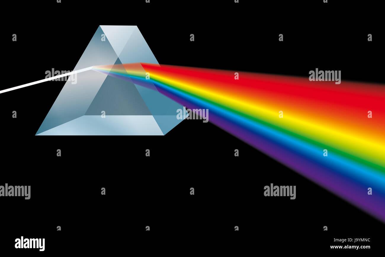 Ray Of Light Prism Spectrum Triangular Optics Light Blue Stock Photo