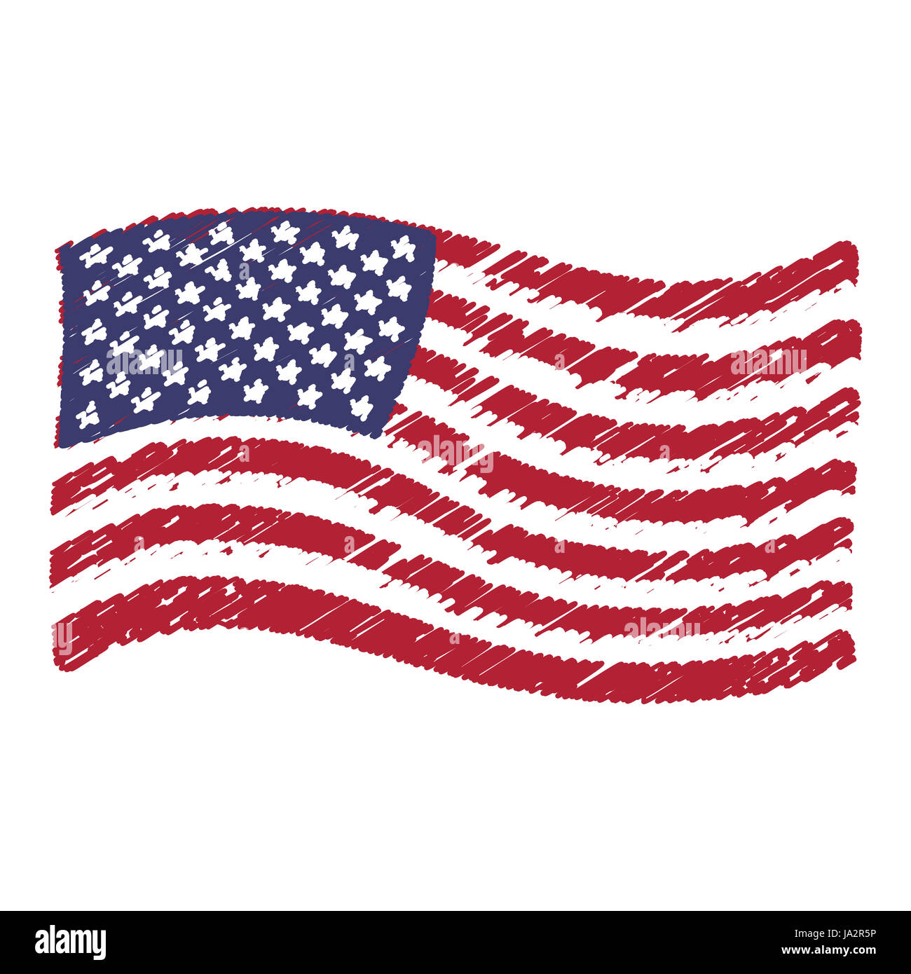 american flag sketch stock