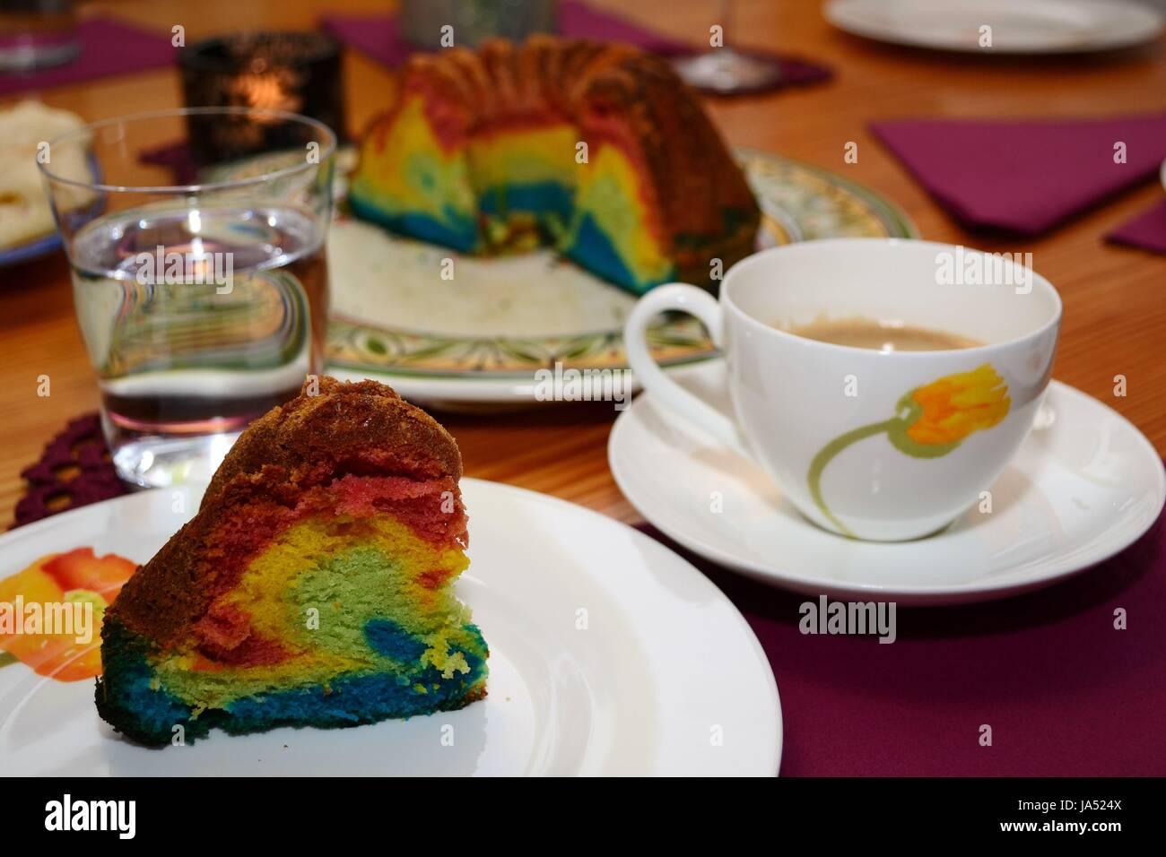 Bunter Kuchen Regenbogentorte Rezept Und Step By Step Anleitung
