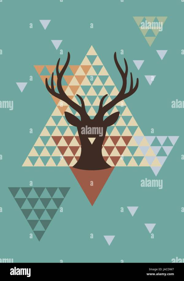 Deer Head Vector Stock & - Alamy