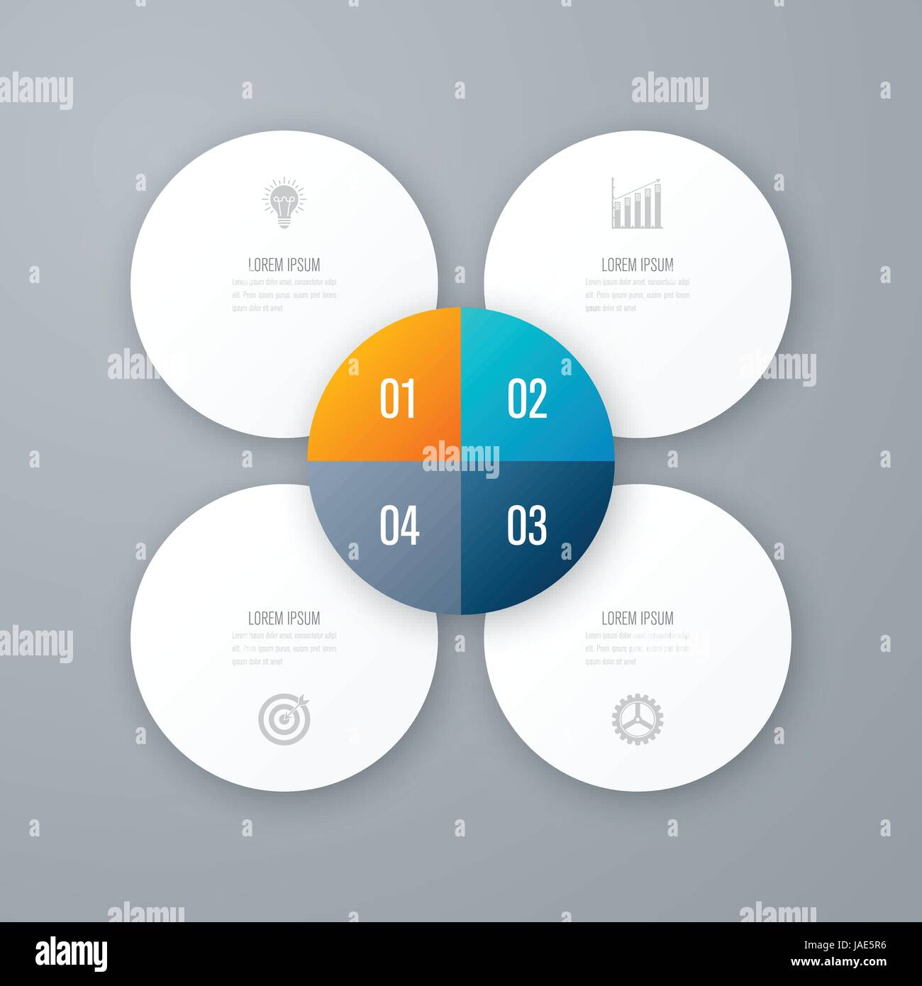hight resolution of vector for infographic template for cycle diagram graph presentation and round chart business concept with 4 options parts steps or processes d