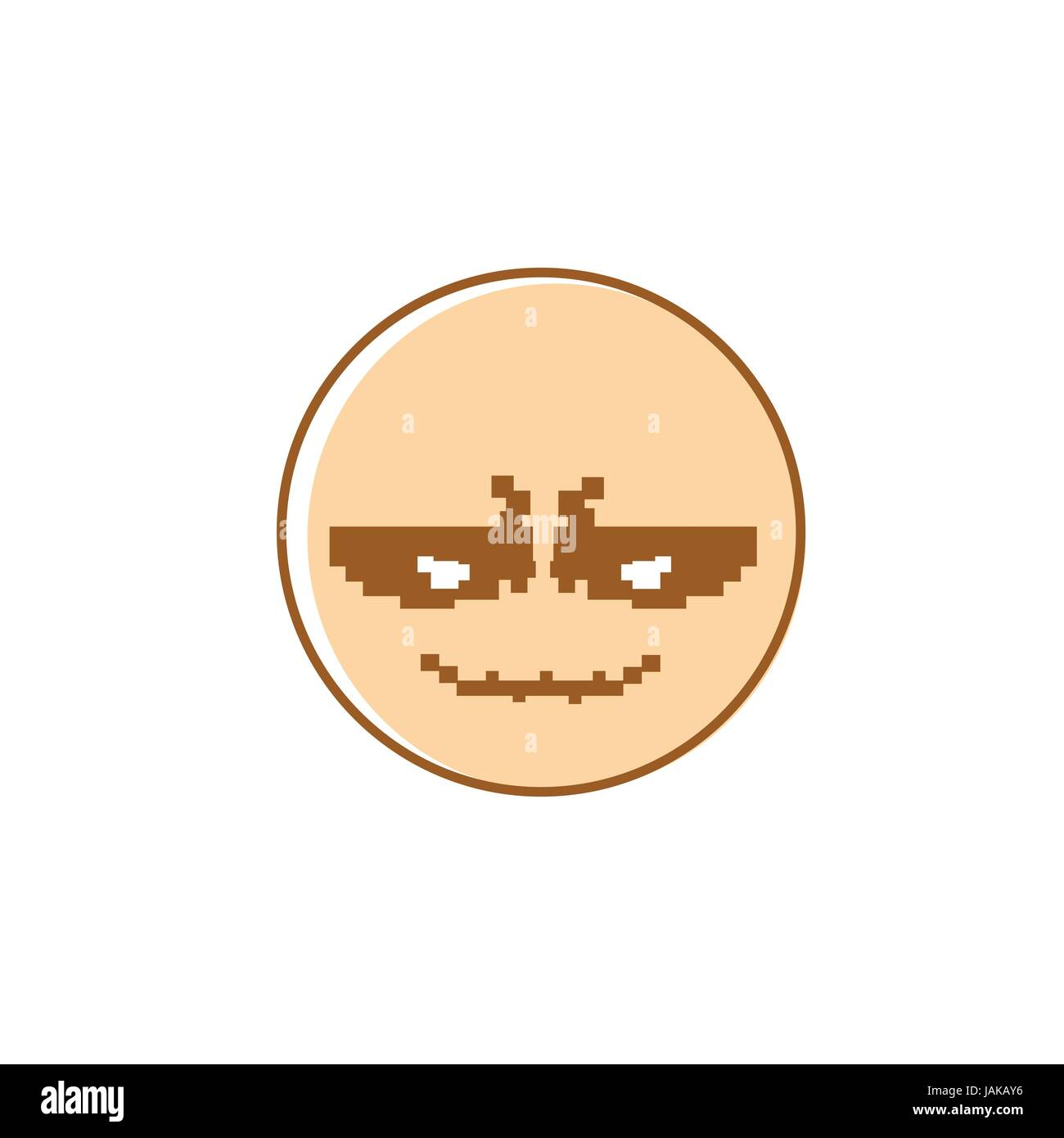 hight resolution of smiling cartoon face positive people emotion icon