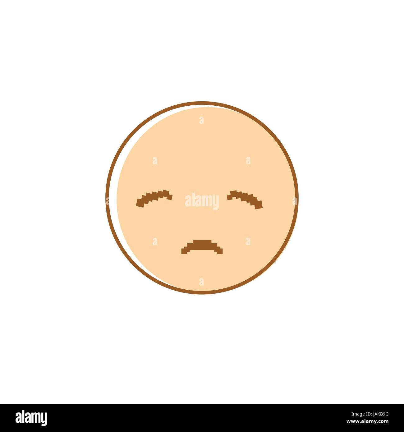 hight resolution of sad cartoon face negative people emotion icon