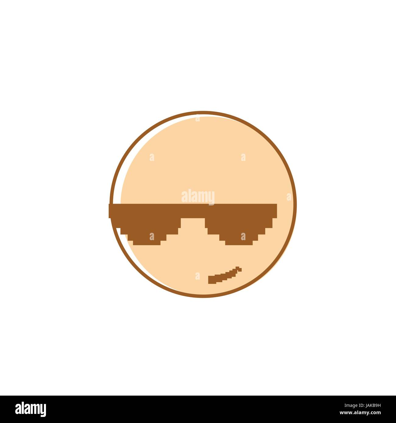 hight resolution of smiling cartoon face wear sunglasses positive people emotion icon
