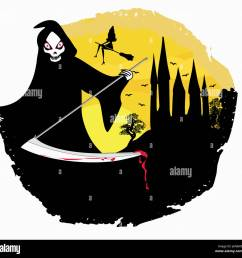 grim reaper illustration [ 1300 x 1275 Pixel ]
