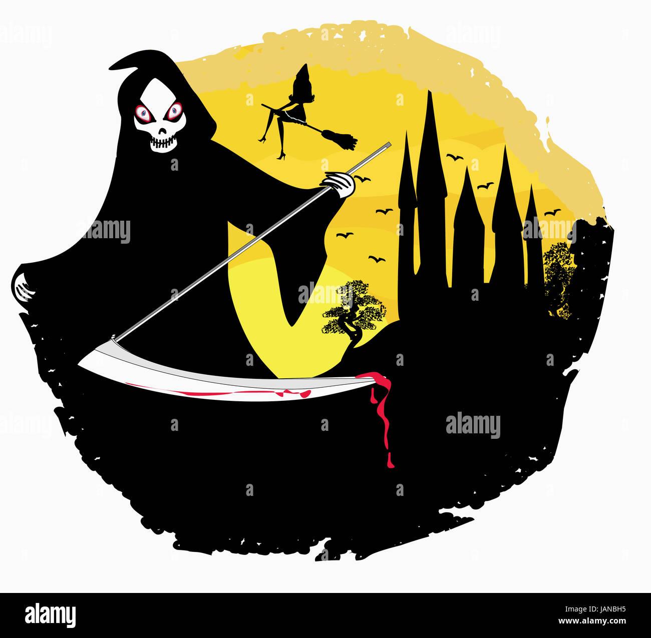 hight resolution of grim reaper illustration
