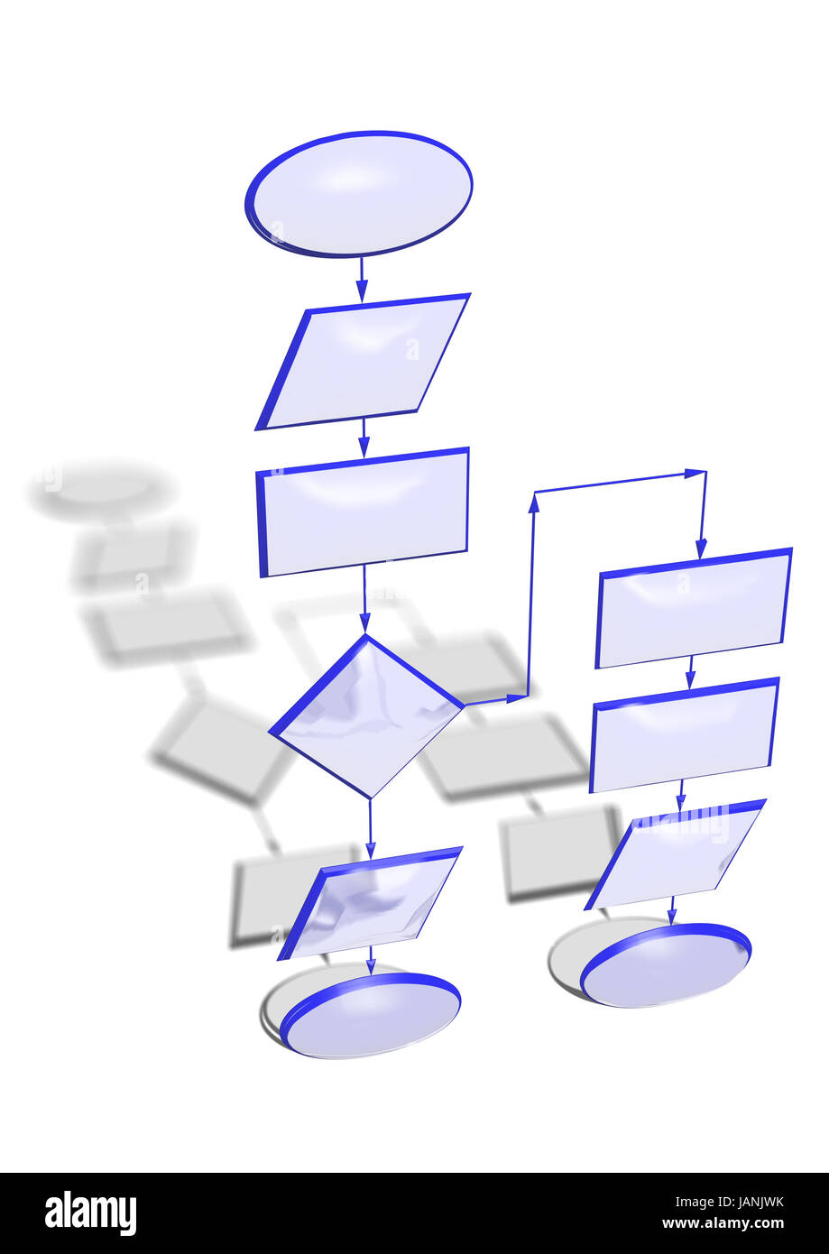 hight resolution of empty flow chart diagram use for programming