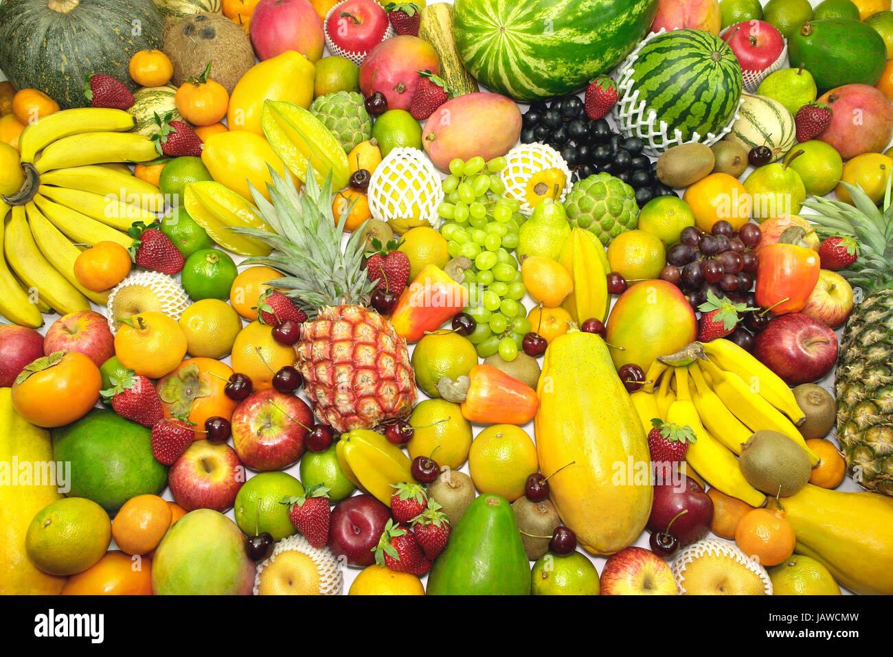 several variety of fruits