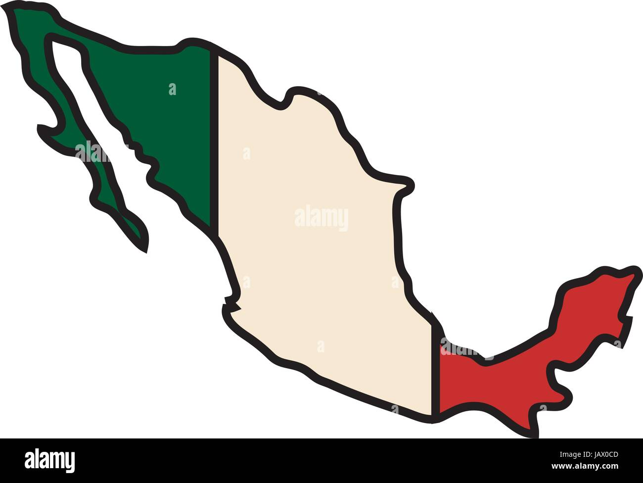Mexico Country Map Icon Stock Vector Art Amp Illustration