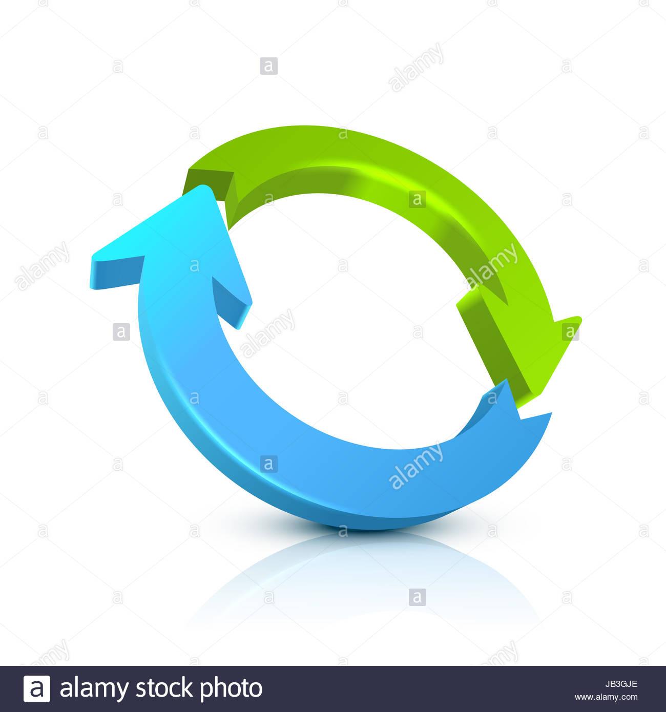 hight resolution of circular arrow 3d