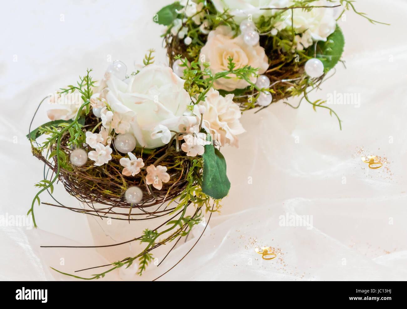 Blumenarrangement Hochzeit Stock Photos