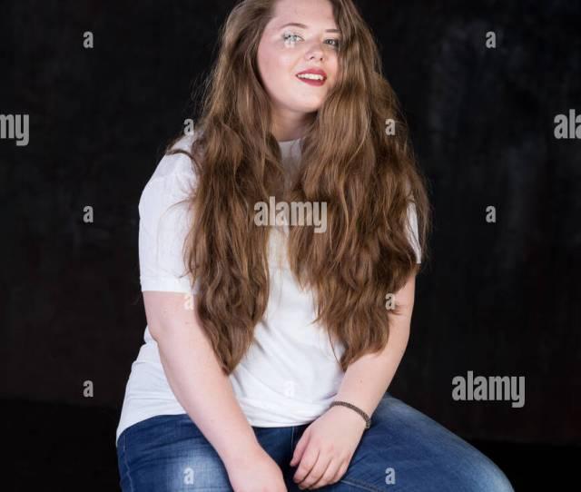 Stunning Plus Size Red Head Long Beautiful Hair Positive Energy Sweetheart Big