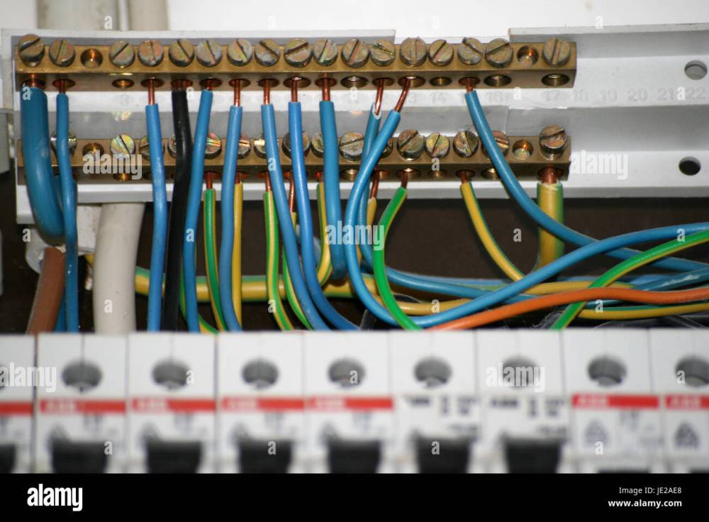 medium resolution of wires of an old switch box stock image