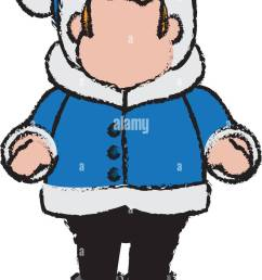 character man carols singer at a winter clothes stock vector [ 804 x 1390 Pixel ]