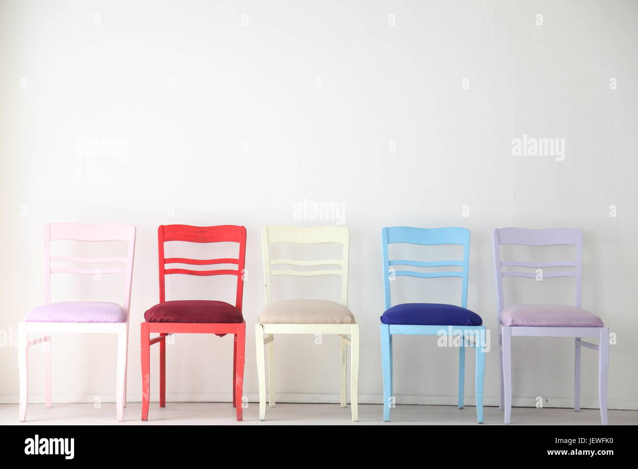 blue nursery chair rental indianapolis stock photos images white room with colorful chairs yellow red purple image