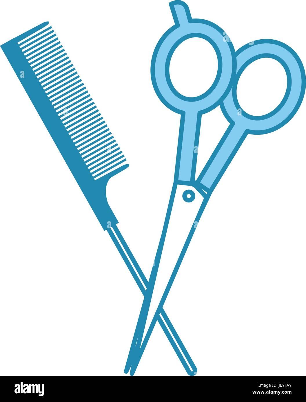 Scissors And Comb Clipart : scissors, clipart, Barbershop, Scissor, Isolated, Stock, Vector, Image, Alamy