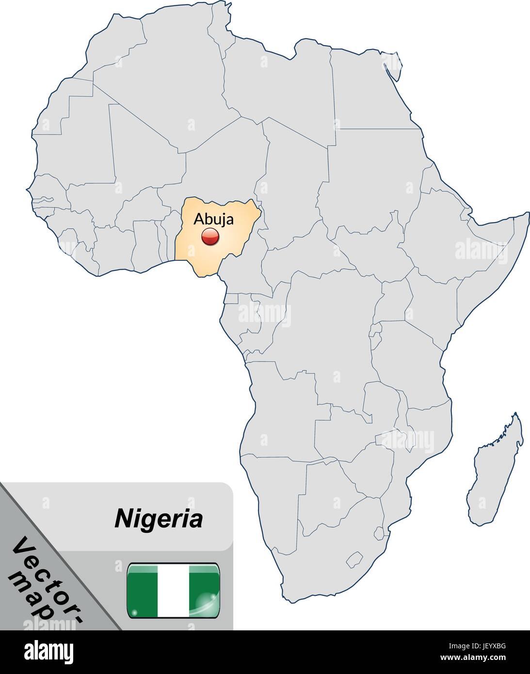 Map Of Nigeria Stock Photos Amp Map Of Nigeria Stock Images