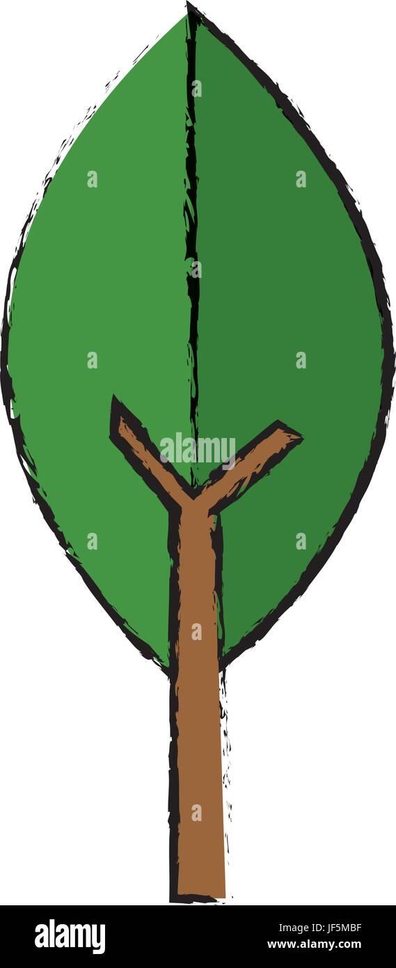 medium resolution of green leaf natural environment ecology symbol stock vector