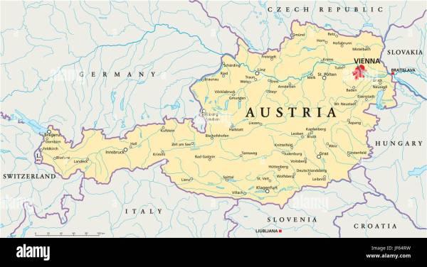 vienna austria danube map atlas map of the world