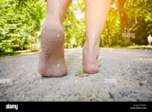 Women Walk Barefoot