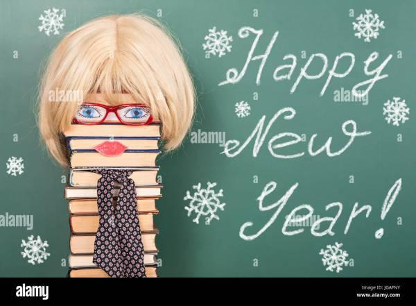Happy Year Funny Education Idea With Women Teacher