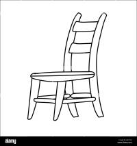 Hand drawn sketch of Chair isolated, Black and White ...