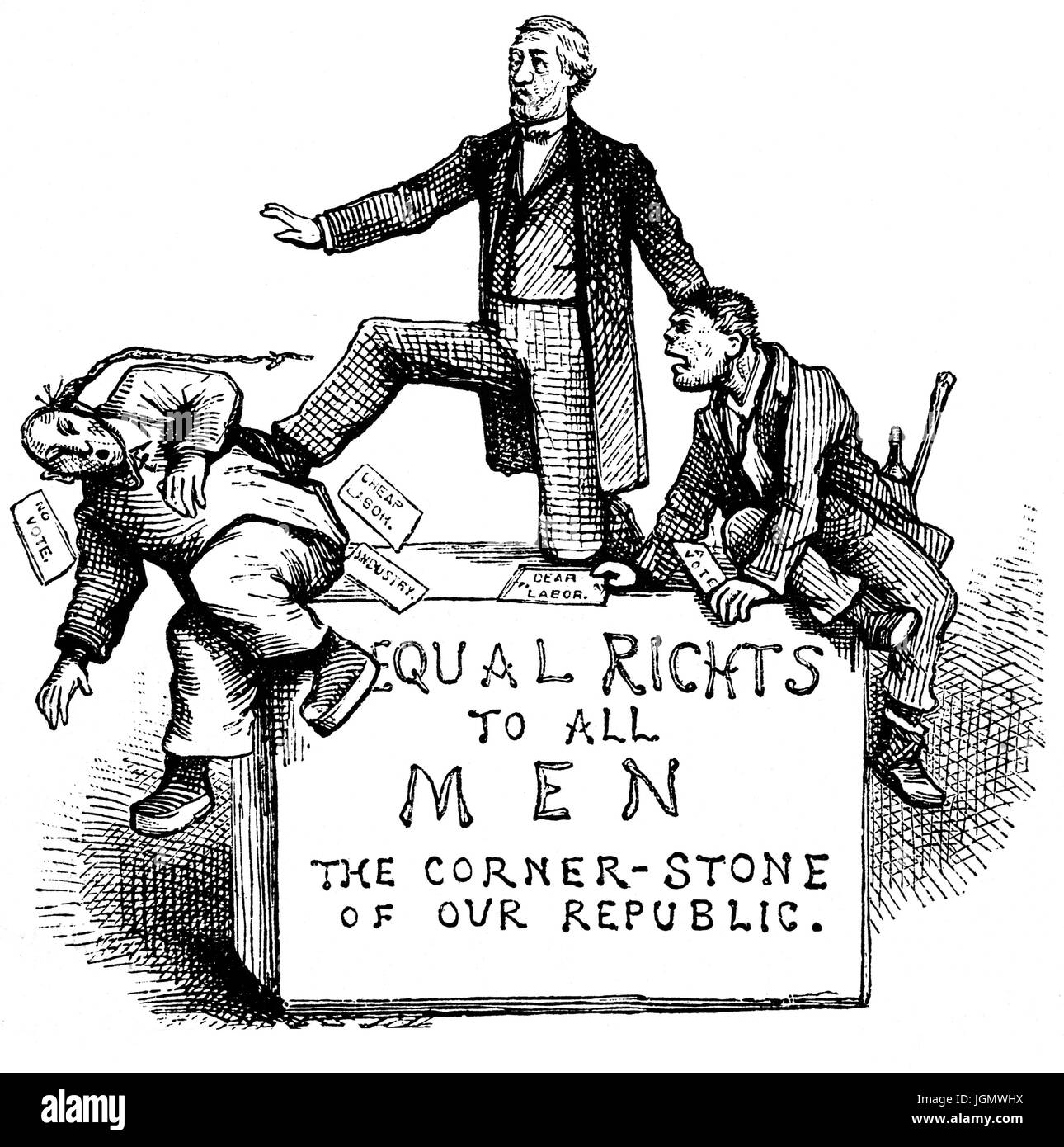 A Late 19th Century Political Cartoon Illustrating