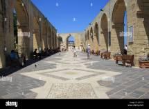 Upper Barracca Gardens In Valletta Stock &