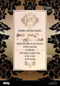 Vintage baroque style wedding invitation card template ...