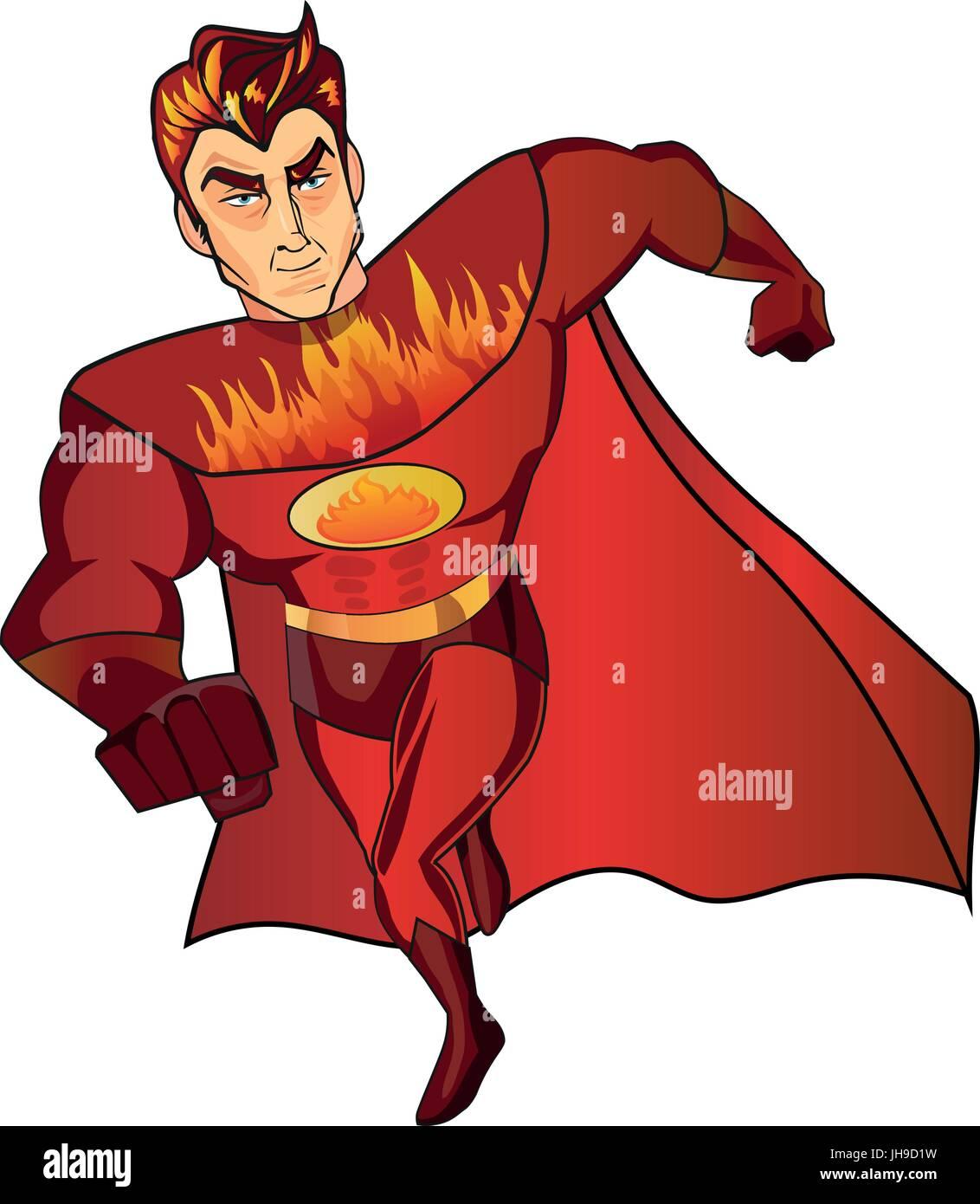 super hero fireman cartoon