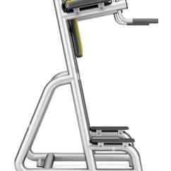 Roman Chair Gym Equipment Kane Design Exercise Stock Photos Isolated On White Background Image