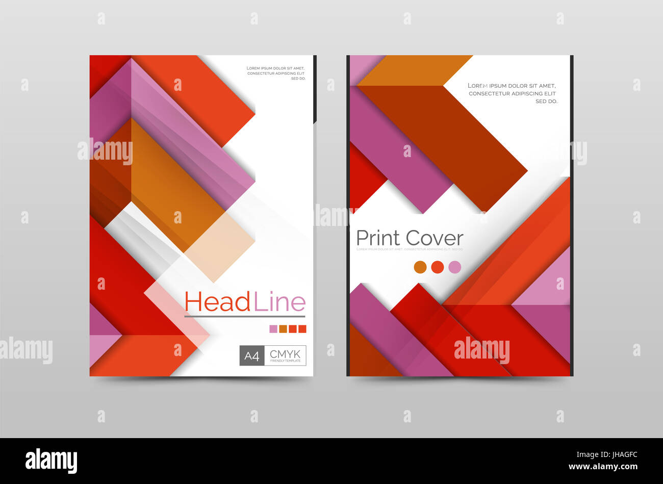 Geometric brochure front page, business annual report cover template ...