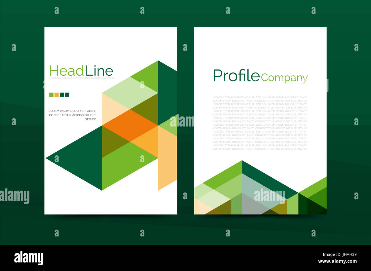 Color business brochure cover template, annual report front page, A4 ...