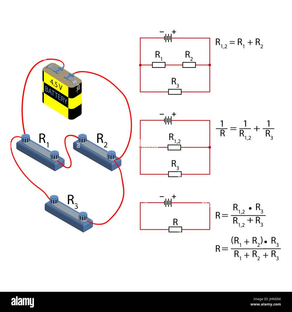 medium resolution of representation of the step by step simplification of the electrical circuit and the formula for calculating the resistance in parallel and serial conn