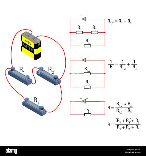 small resolution of representation of the step by step simplification of the electrical circuit and the formula for calculating the resistance in parallel and serial conn