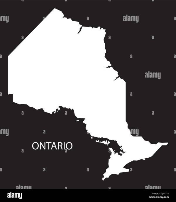 Ontario Map Vector Stock &