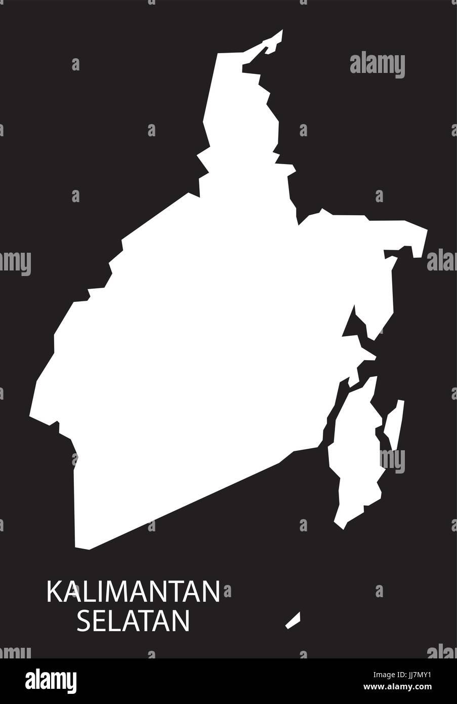 Peta Kalimantan Hitam Putih : kalimantan, hitam, putih, Kalimantan, Selatan, Indonesia, Black, Inverted, Silhouette, Stock, Vector, Image, Alamy