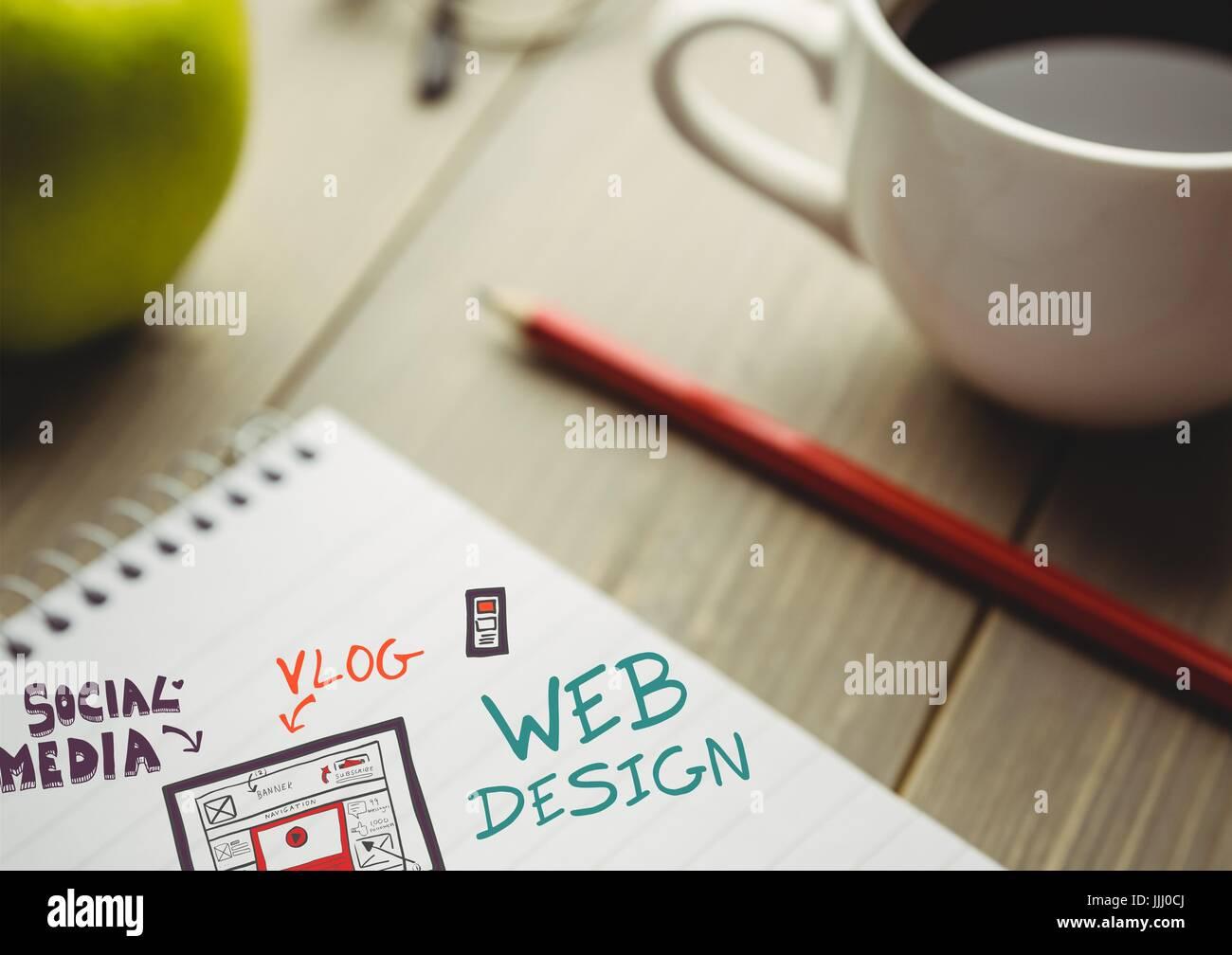 web design doodle on