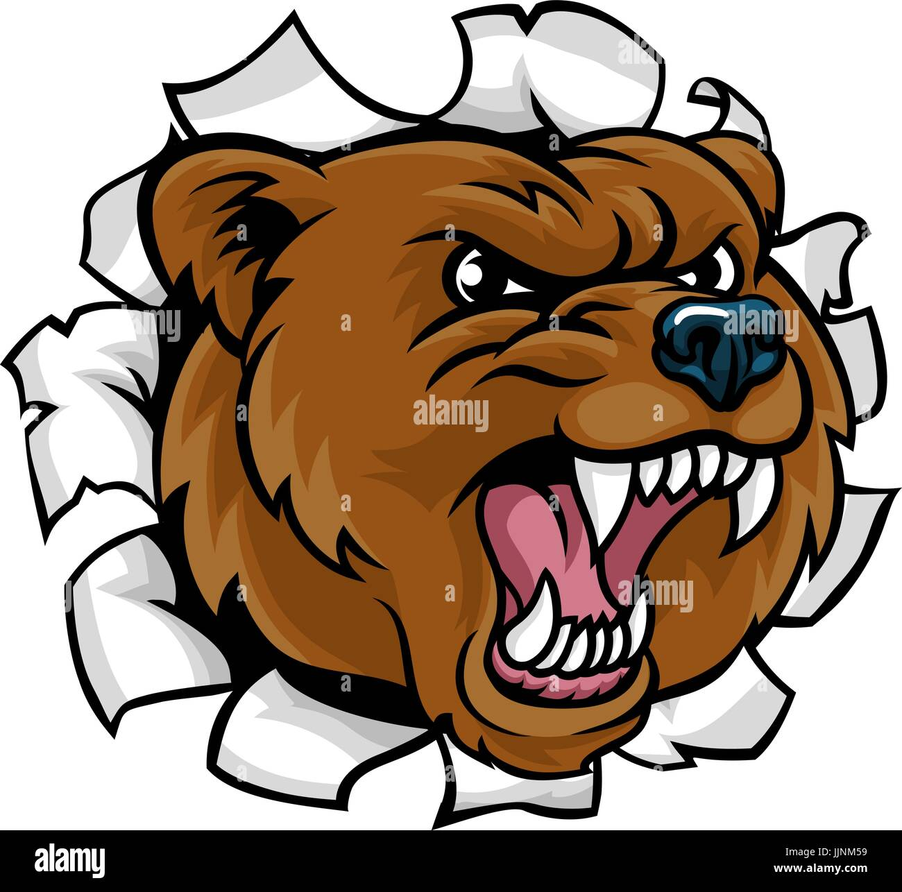 hight resolution of bear angry mascot background breakthrough
