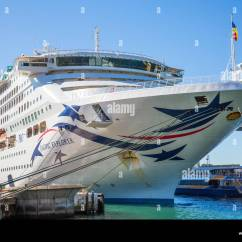 P O Pacific Explorer New Jerusalem Diagram Ando Cruise Ship Moored At The Overseas