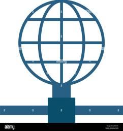 earth globe diagram global communications icon image [ 1296 x 1390 Pixel ]