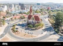 Windhoek Namibia - June 17 2017 Aerial View Of