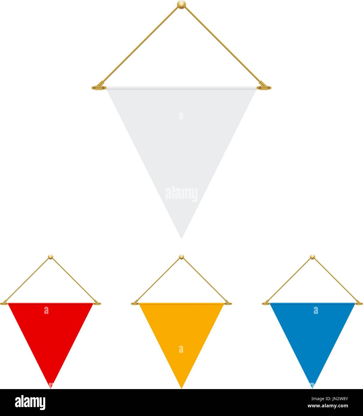 For this time, we want to present you with some templates in different and various styles to be the triangle banner template. Flag Design Blank Triangle Flag Hanging Isolated Template For Your Designs Vector Illustration Stock Vector Image Art Alamy