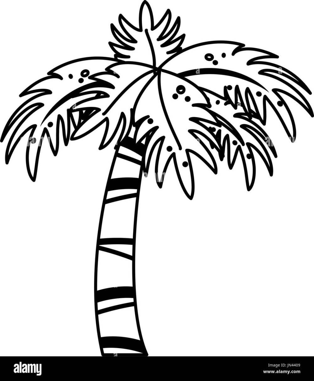 medium resolution of palm tree icon image stock image