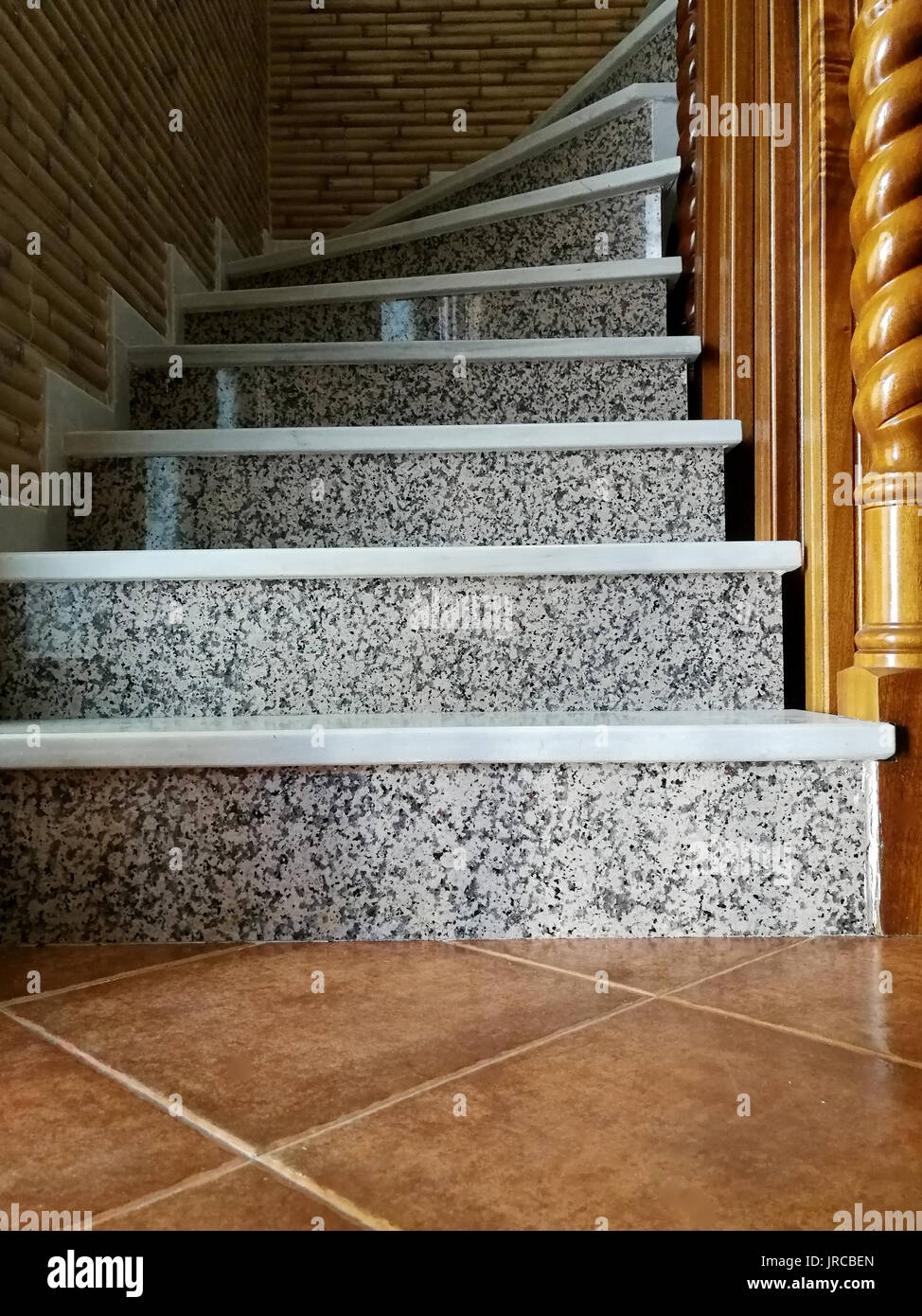 Stairs With Marble And Granite Stock Photo Alamy | Granite Design For Stairs | Floor | Front Wall | Bedroom | Grenite Pathar | Sunny