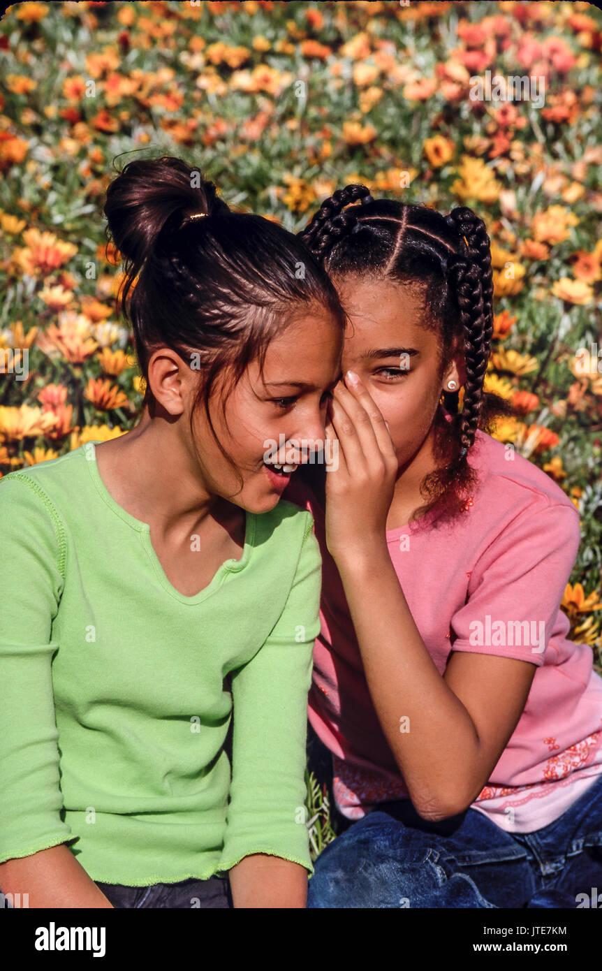 Secrets To Tell Girls : secrets, girls, OutdoorsTwo, Girls, Secrets, Whispering, Friend, Stock, Photo, Alamy