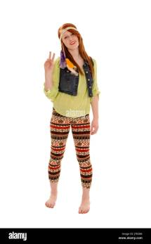 Hippy Chick Stock & - Alamy