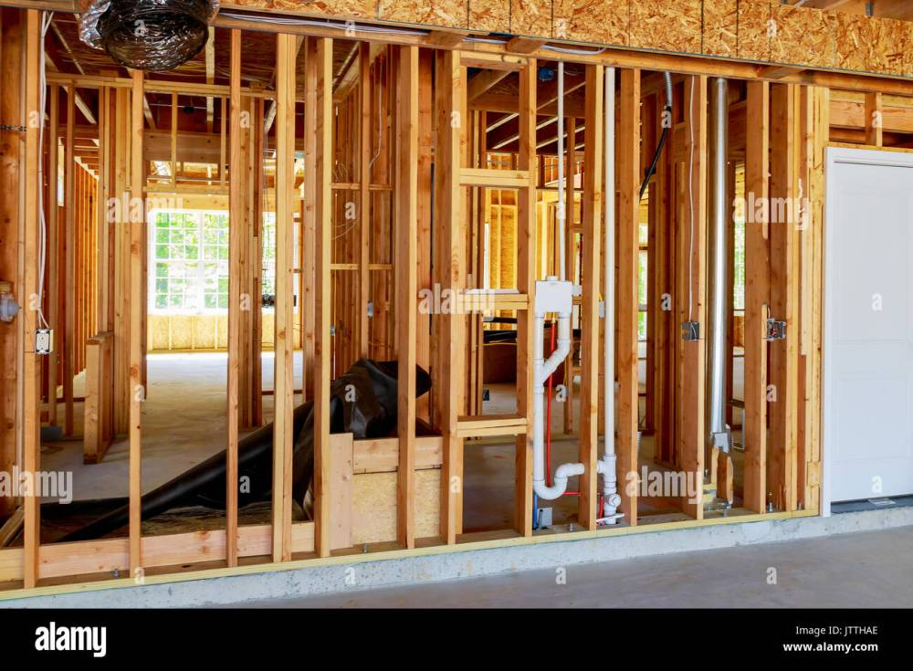 medium resolution of the frame building or a house with basic electrical wiring stock 3 wire solenoid wiring the