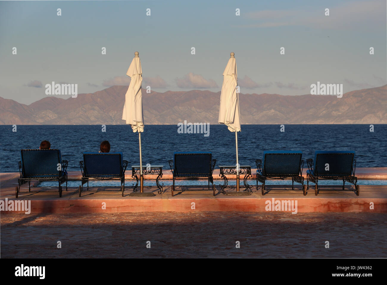 baja beach chairs office chair for tall person mexico sea of cortez stock photos and