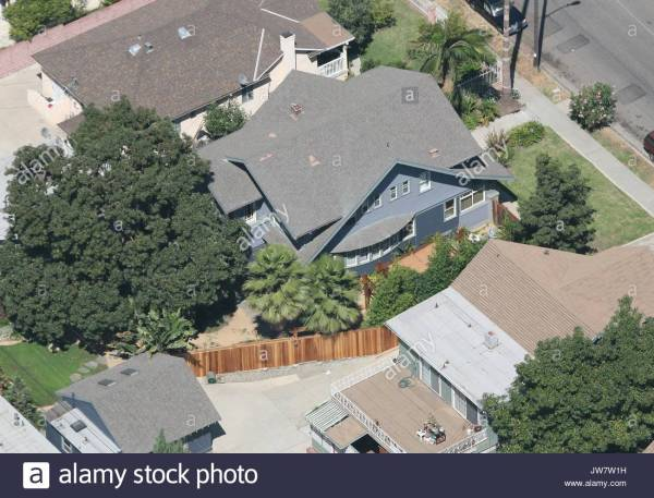 Aerial Views Of 'grey' Anatomy' Star Sandra ' Hollywood Home Stock 153222653 - Alamy